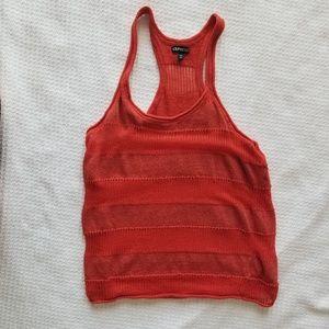 Red Knit Racerback Tank